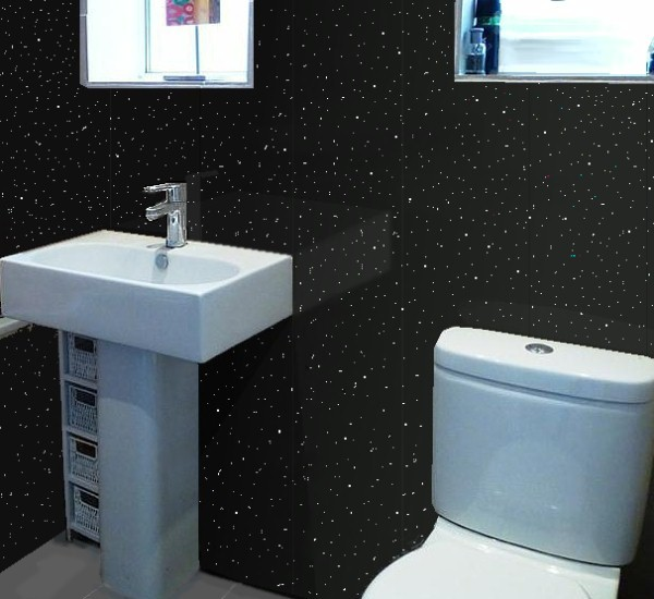 Vicenza Black Sparkle Bathroom Cladding