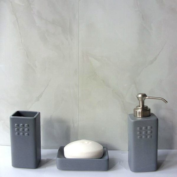 Vicenza grey marble bathroom cladding