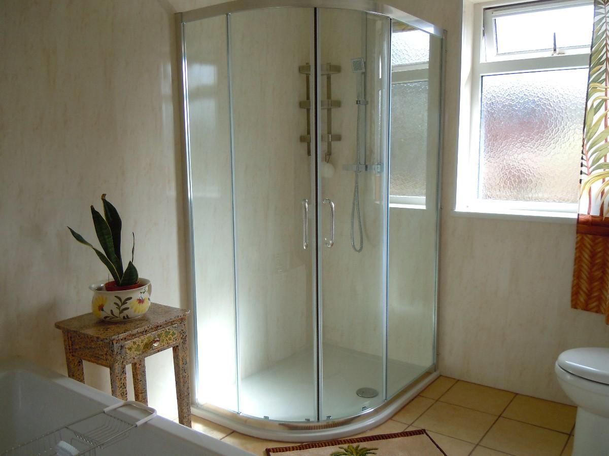 firenze beige inside shower cubicle