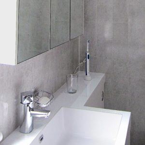 florentine grey tile effect panels