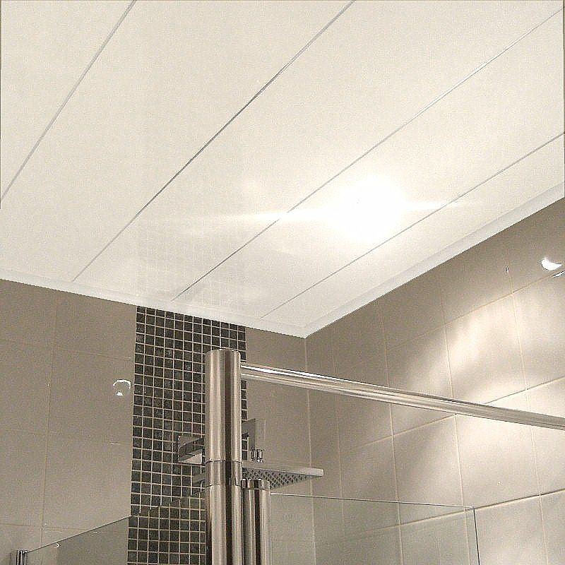 Labo Ultra White M Gloss Ceiling Panels From The Bathroom Marquee - Bathroom celing