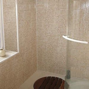 Mosaci Beige tile effect shower panels