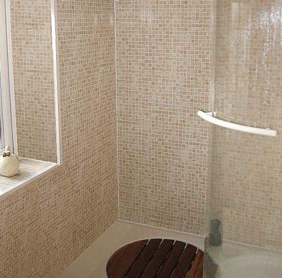 Mosaic Beige tile effect shower panels