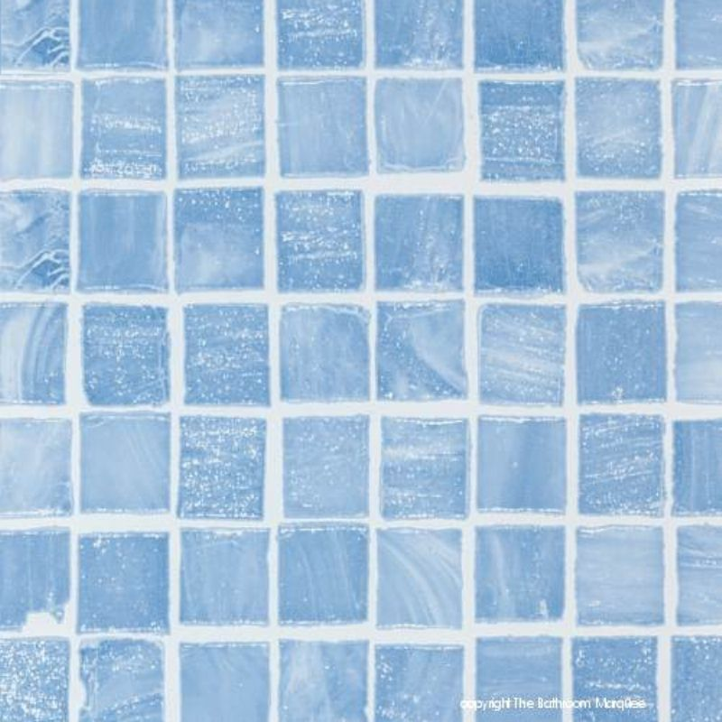 Mosaic Blue Tile Effect Panels From The Bathroom Marquee