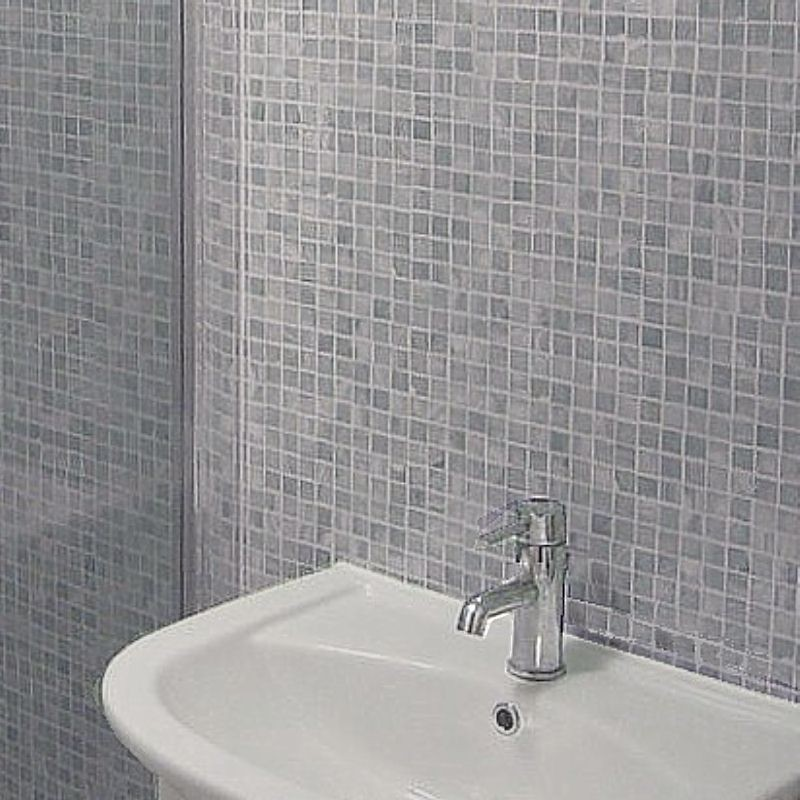 Mosaic Grey Tile Effect Panels from The Bathroom Marquee