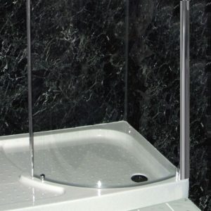 Neptune Black Marble Shower Wall Panels
