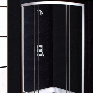 Neptune Black Sparkle Shower Panels