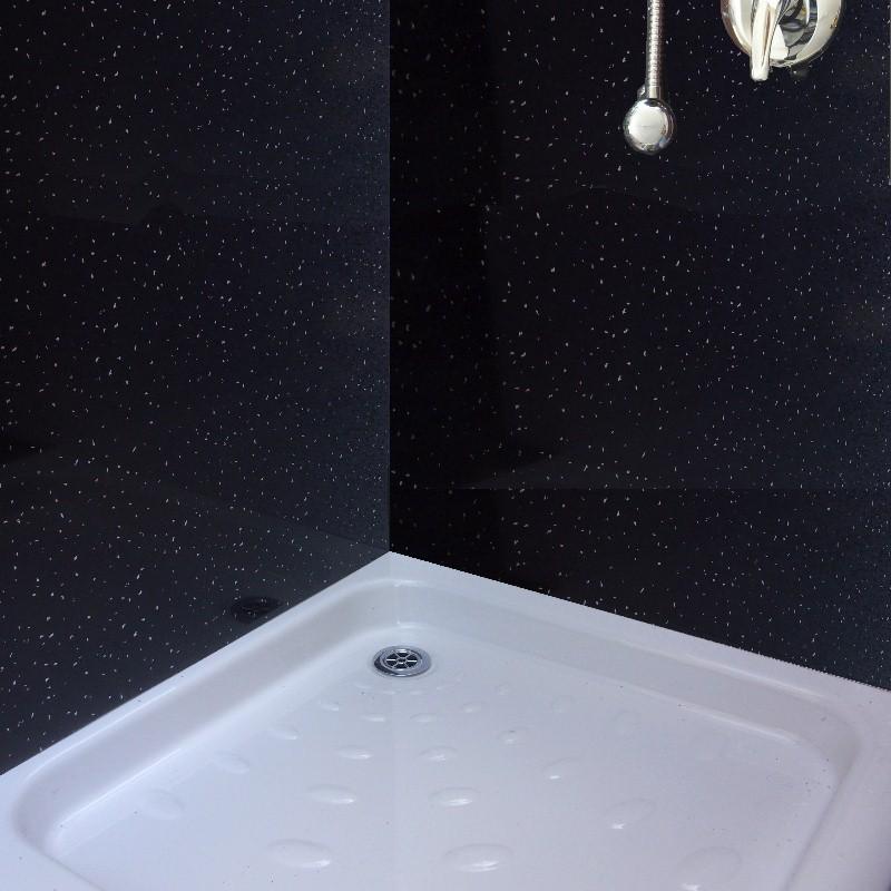 Black Glitter Bathroom: Neptune Black Sparkle Shower Panels From The Bathroom Marquee
