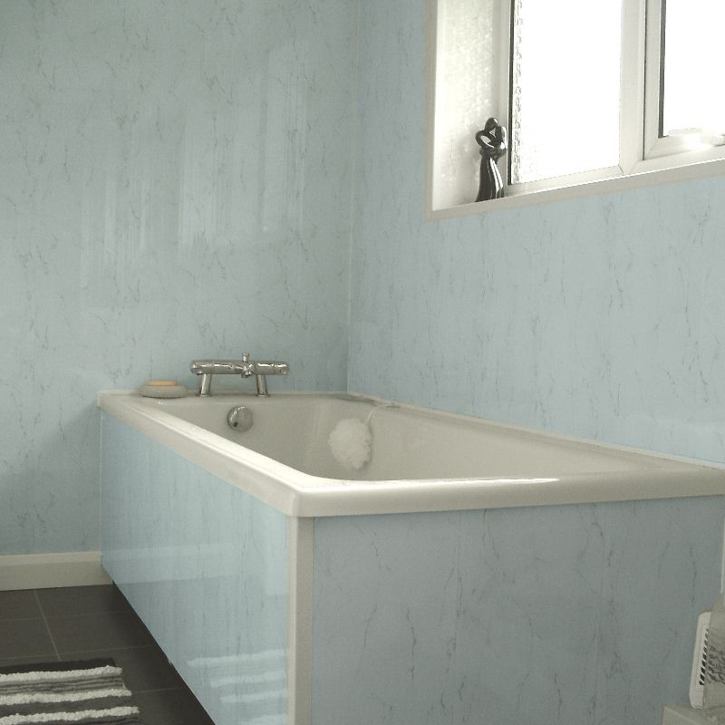 spaceline blue marble effect cladding from the bathroom