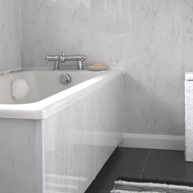 Superbe Marble Effect Panels. Spaceline Silver Grey2   Bathroom Wall ...