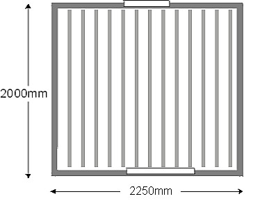 measure for ceiling panels