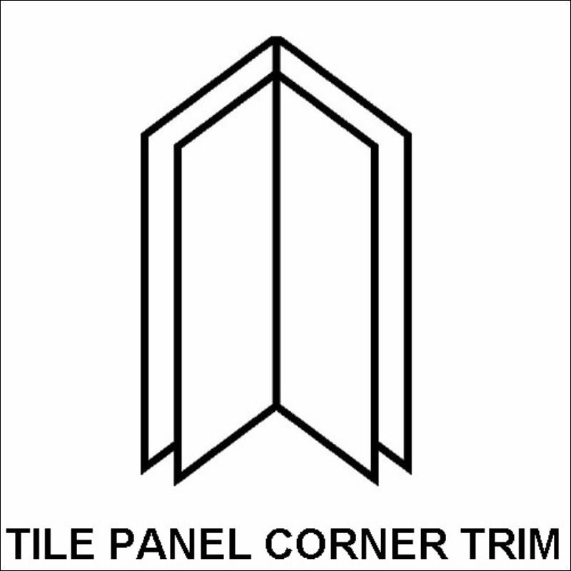 How To Install Bathroom Tile In Corners Bathroom Tile: Corner Trim For Tile Effect Shower Panels From The