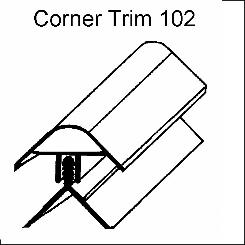 decos corner trim white102 - Decos Corner Trim White 102