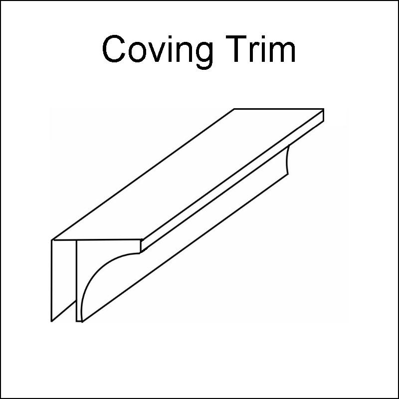 decos coving trim - Decos Trims - White