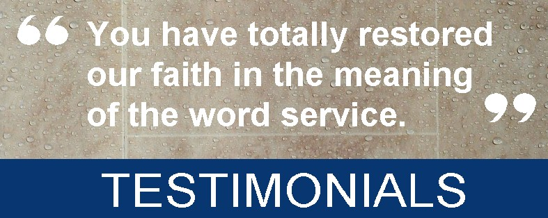 testimonials - Bathroom Wall Panels - The Perfect Alternative To Tiles