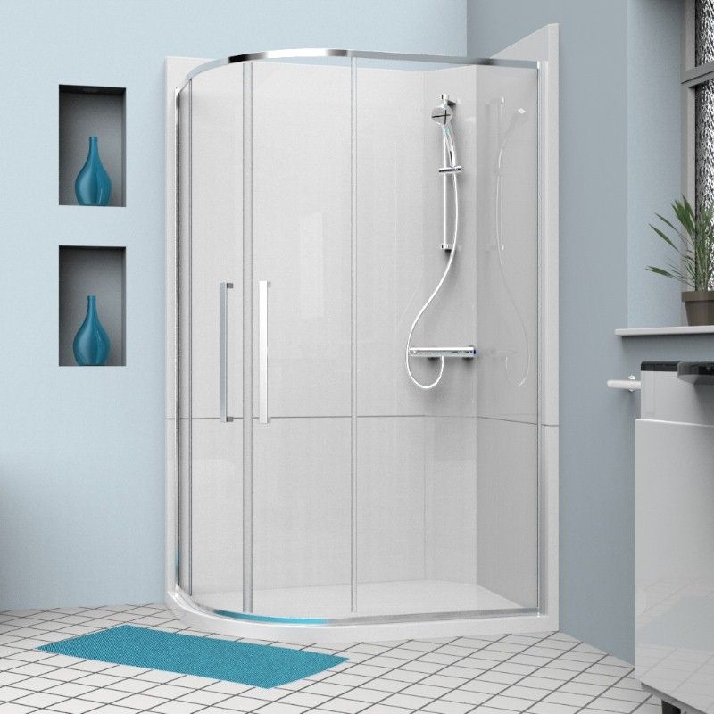 cubicle quadrant 1200 left - Shower Cubicle Installation