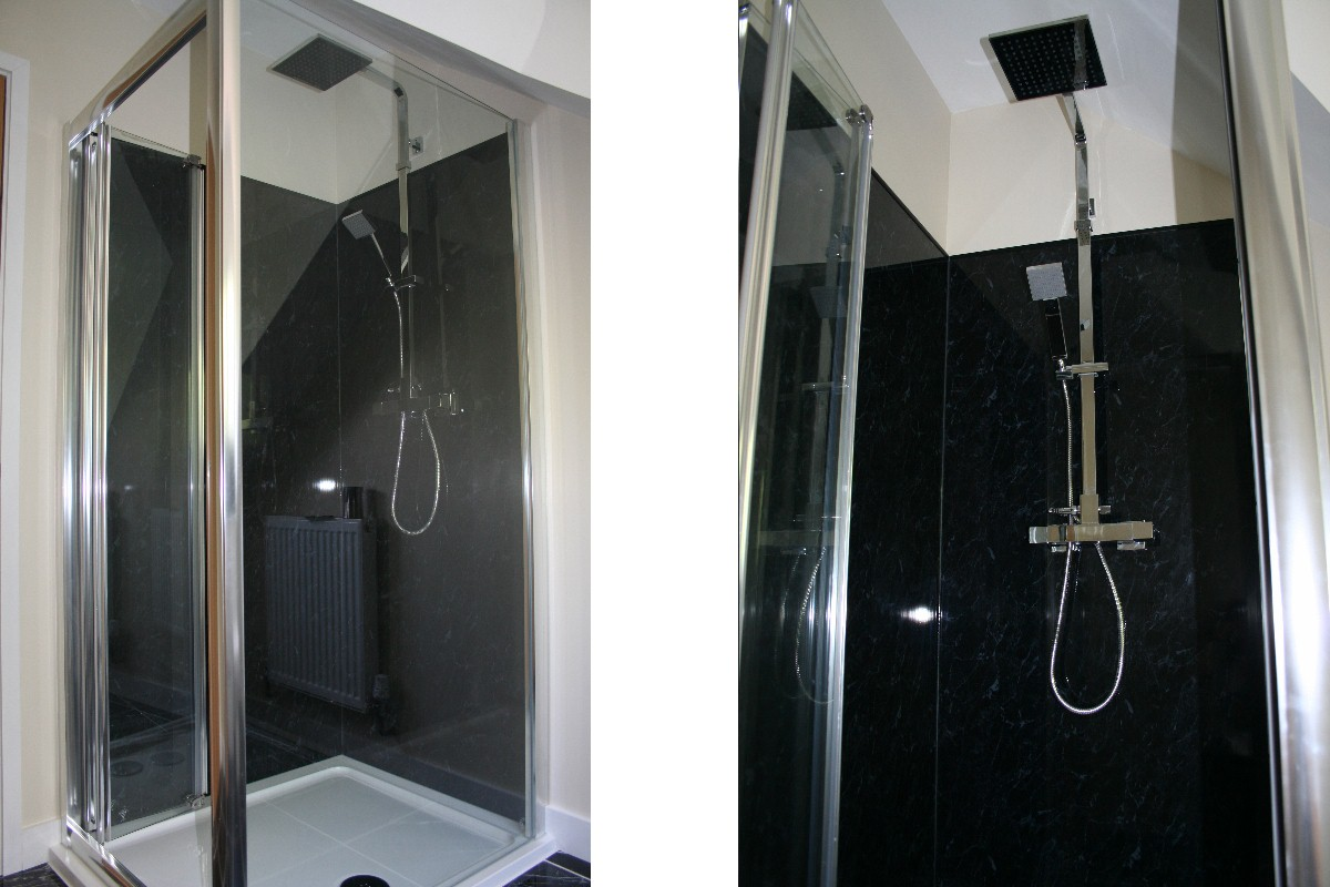 Gallery7 Neptune Black Marble Shower Panels The Bathroom Marquee