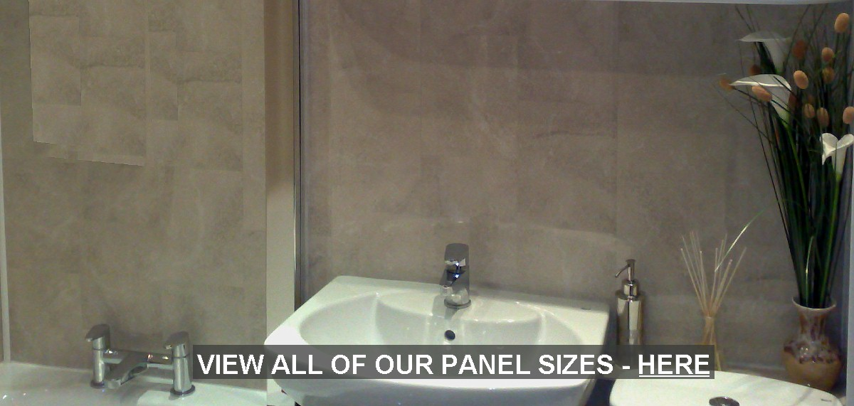 shower wall panel sizes