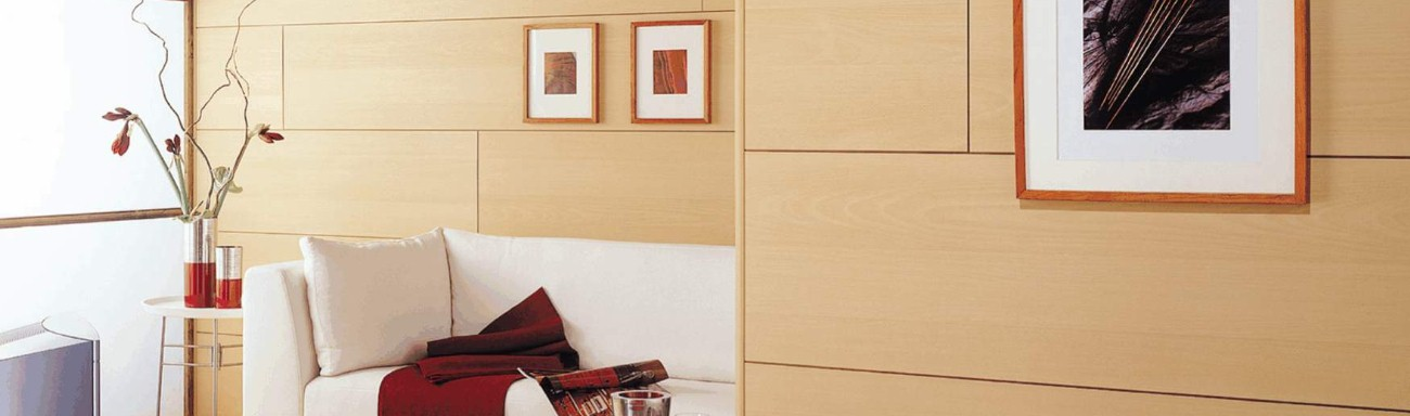 wall panels in a living room