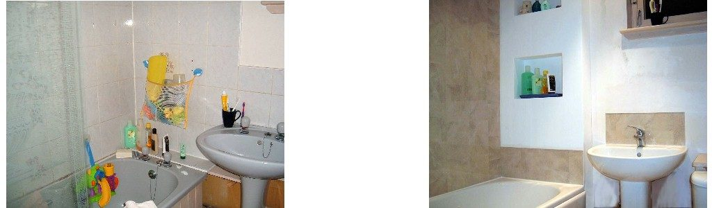 Wall Panels Used As An Alternative To Tiles Above A Bath