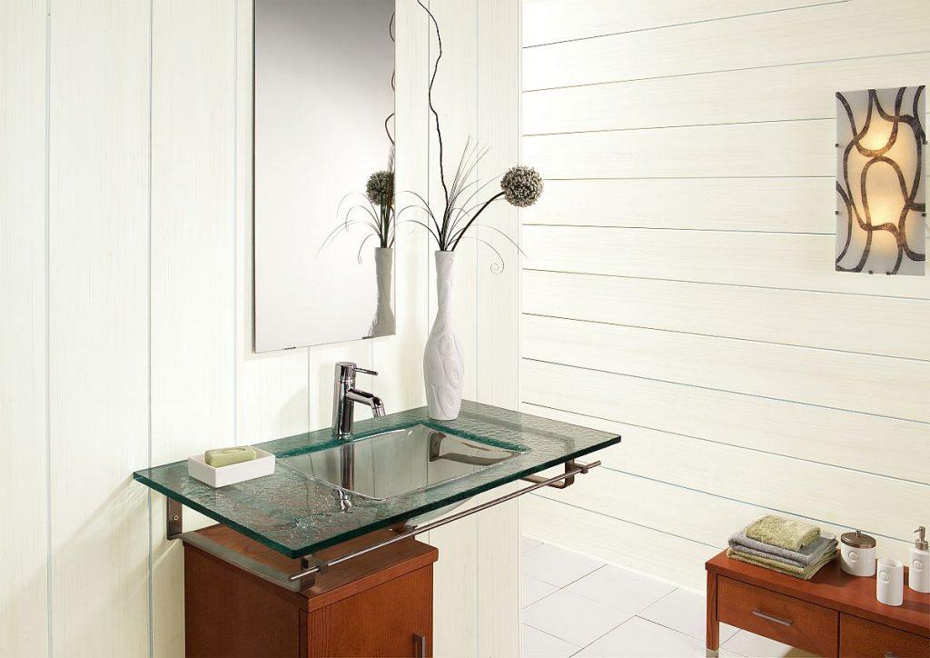 Allure White Wood Effect Bathroom Wall Panels