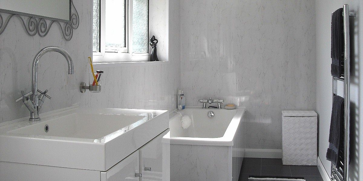 Panel Over Existing Tiles - The Bathroom Marquee