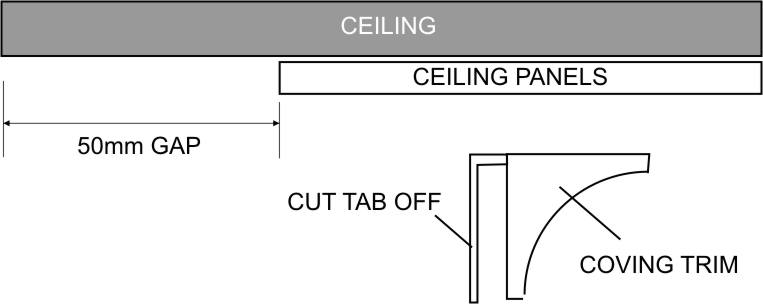 ceiling panel trim diagram 1
