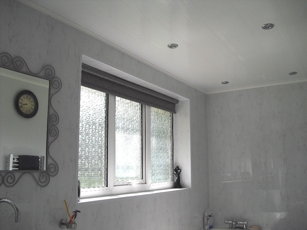 bathroom ceiling completed - Installation - Ceiling Panels With Battens