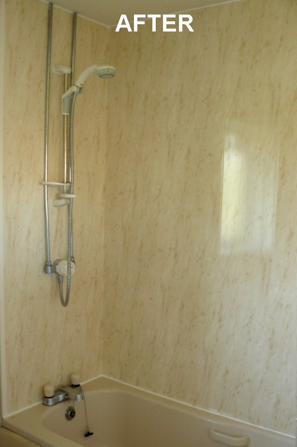 bathroom wall panels after - Bathroom Walls Before & After Panelling