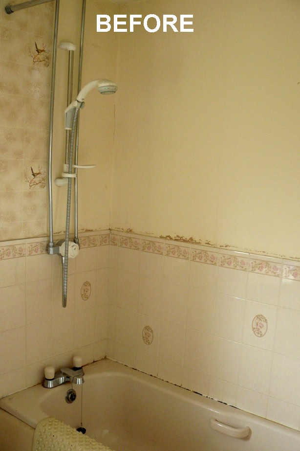bathroom wall panels before - Bathroom Walls Before & After Panelling