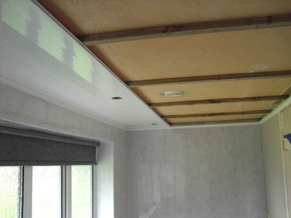 ceiling panel installation using battens