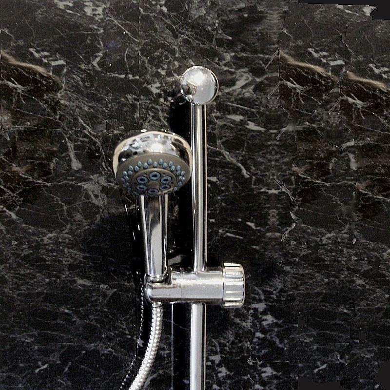 black marble budget bathroom cladding