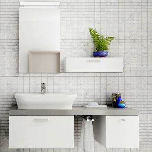 Carrara mosaic effect panels