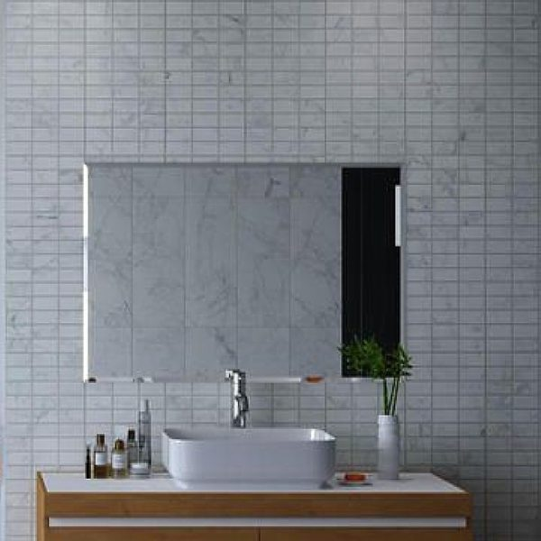 Carrara White Mosaic Panels