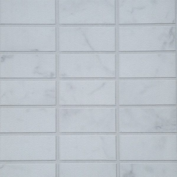 vox carrara scan 600x600 - Carrara White Marble Mosaic Bathroom Panels