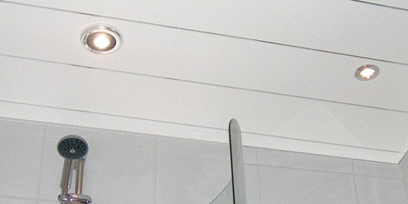ceiling cladding in a bathroom