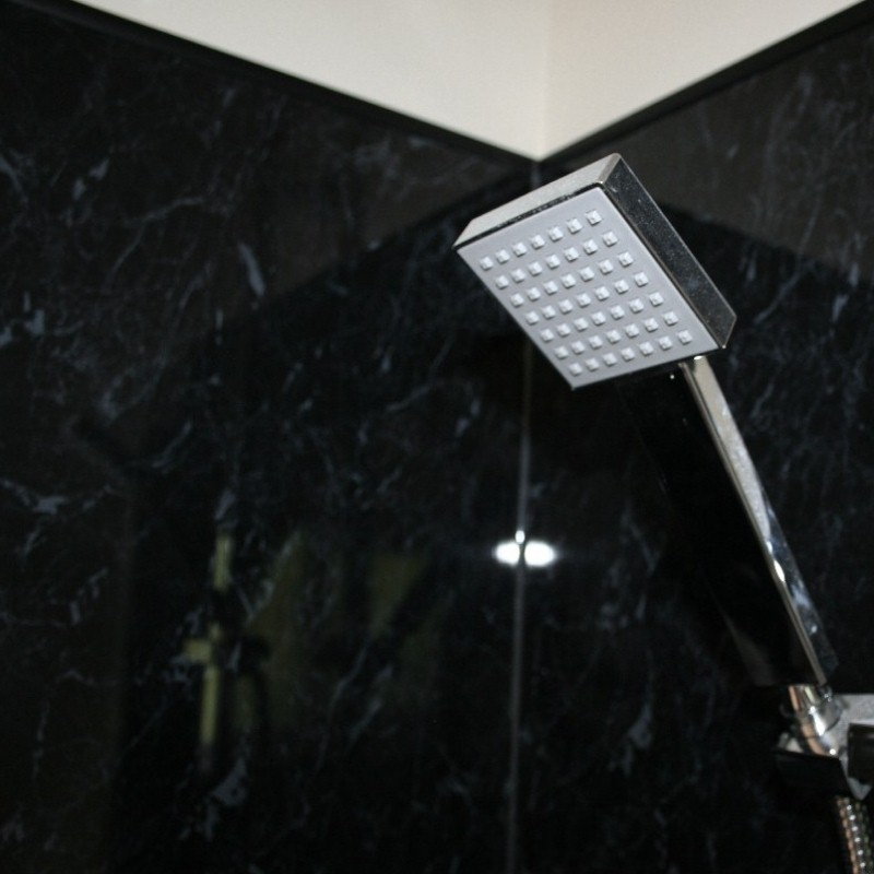 shower wall cladding black