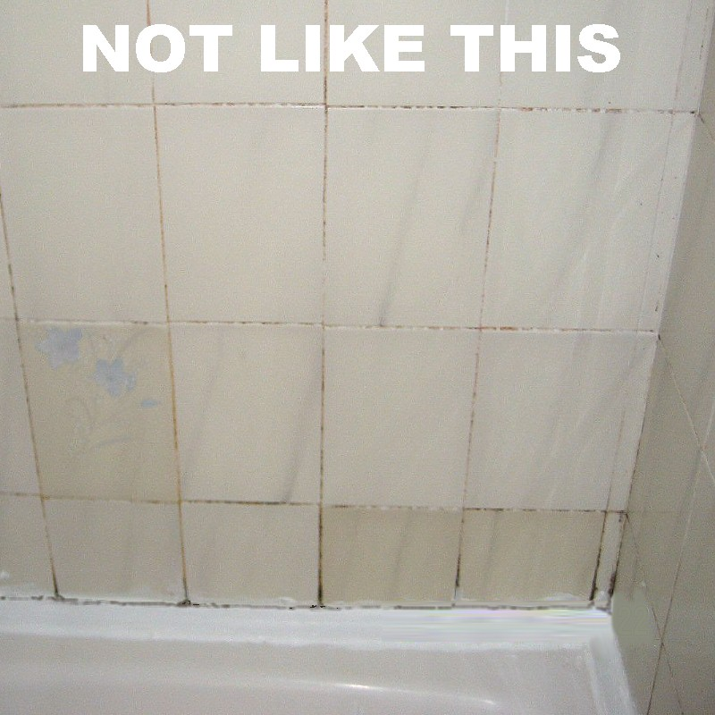 bathroom tile grout