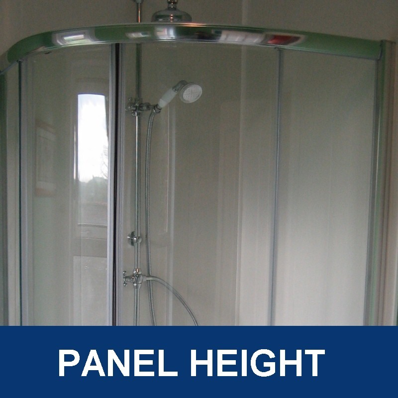 bathroom wall panel height