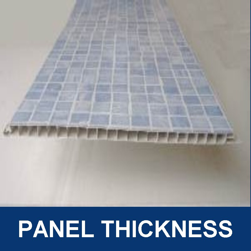 bathroom wall panel thickness