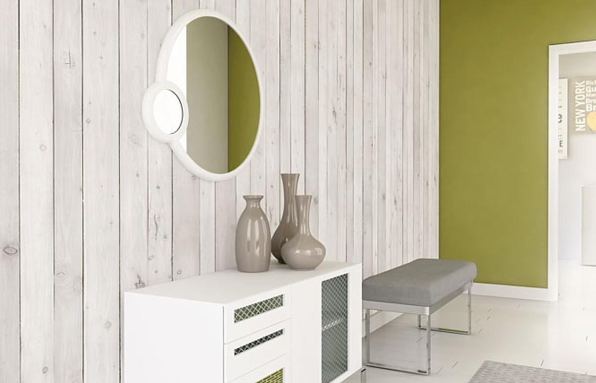 wood effect panels for living room walls