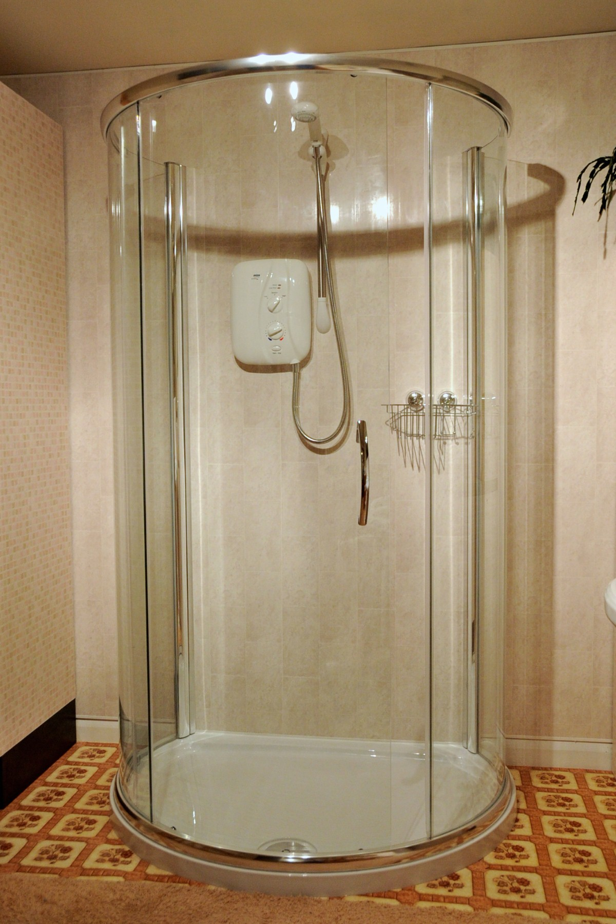 flat wall shower door