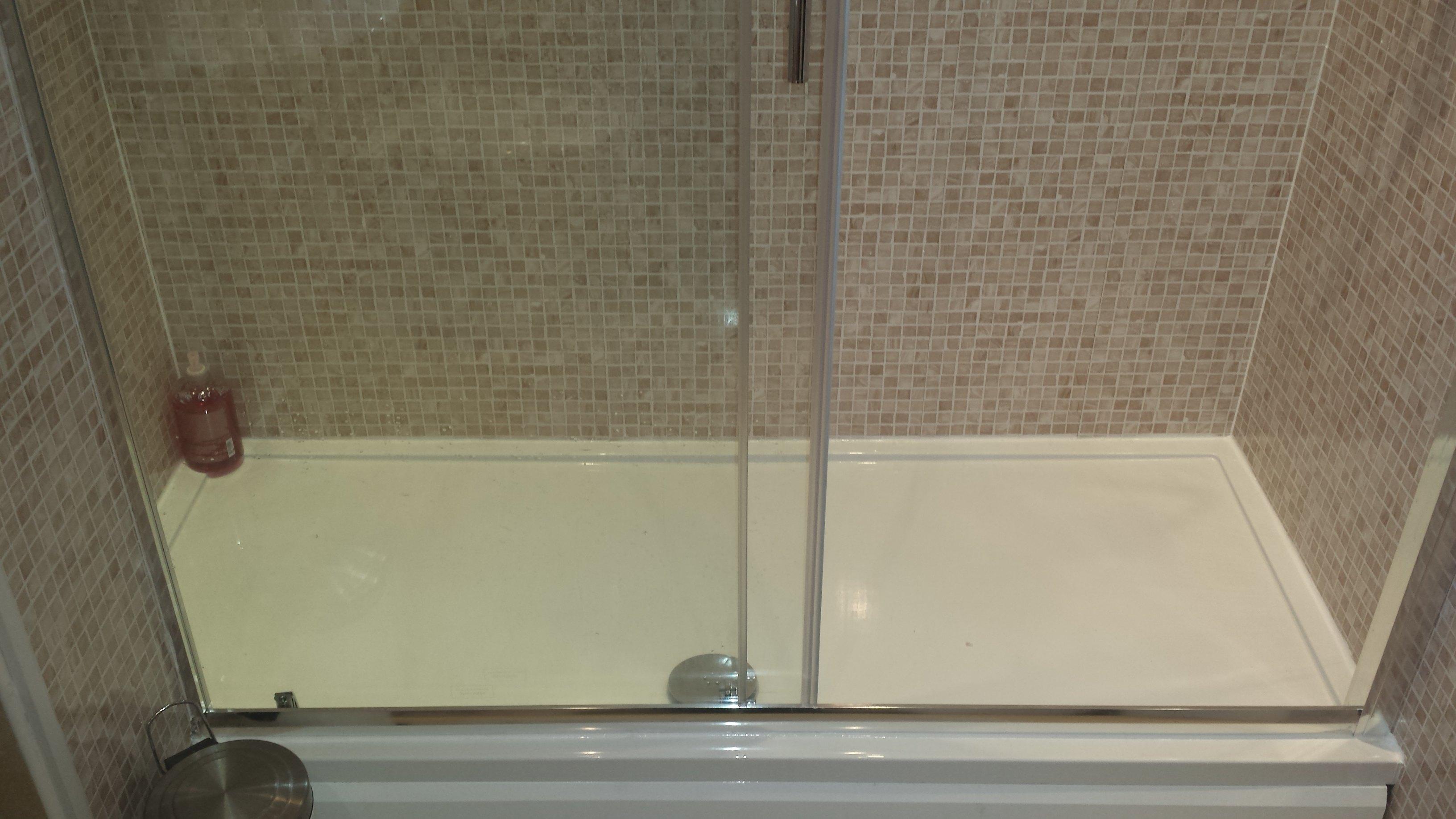 beige mosaic shower panels