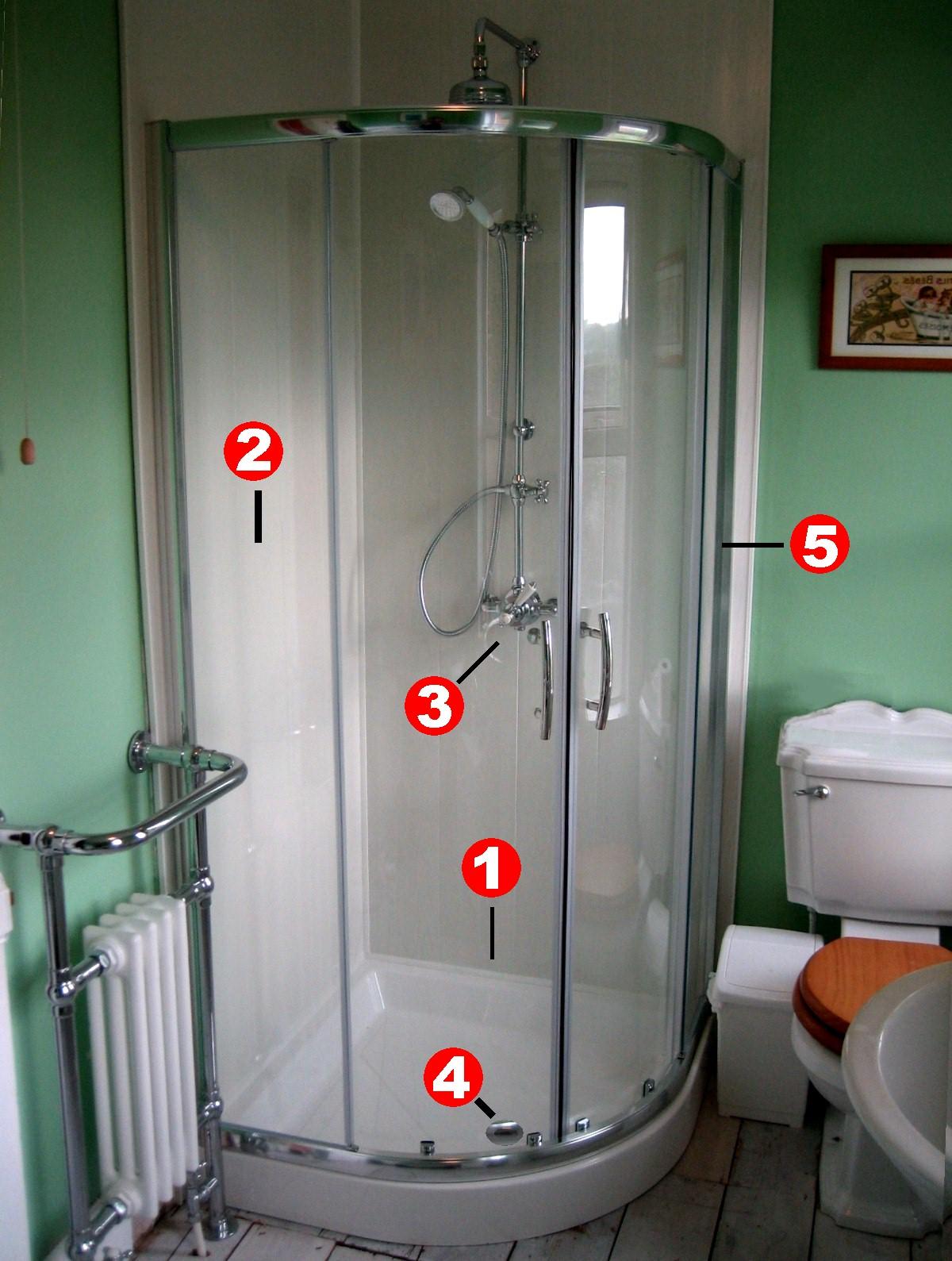leaking shower enclosure