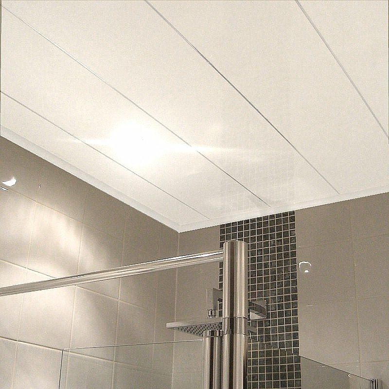 ceiling panel3 - Combining Bathroom Cladding And Tiles