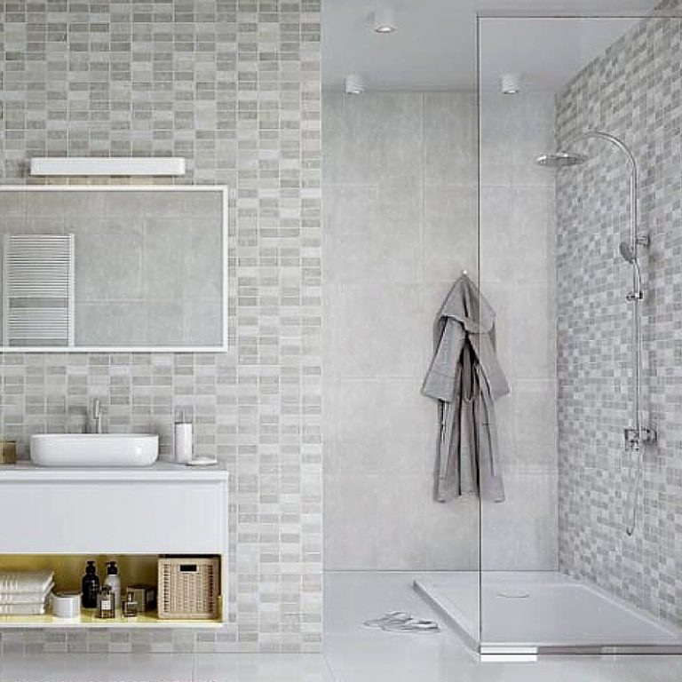 tile effect bathroom wall panels  no grout  no mould