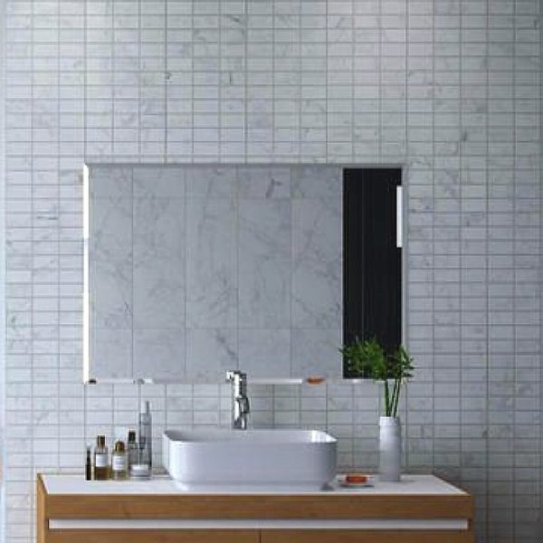 carrara mosaic effect bathroom wall panels