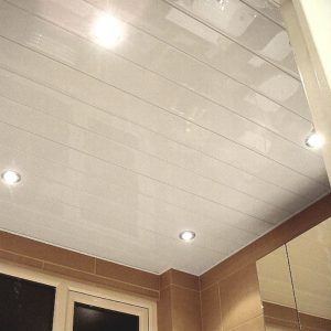 Vicenza White Chrome 2 7m Ceiling Panels From The Bathroom