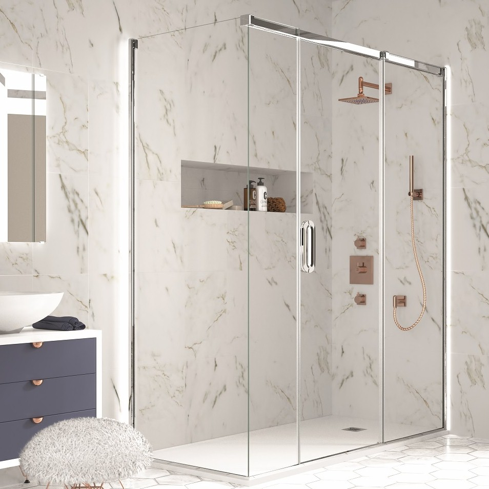 merlyn corner800 - Shower Enclosure Shapes And Sizes
