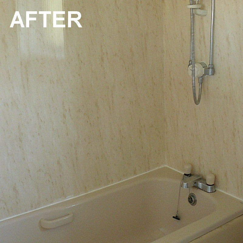 bathroom wall panels after